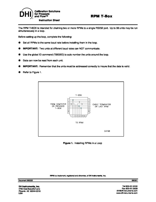 RPM T Box Instruction Sheet — Minerva Metrology & Calibration
